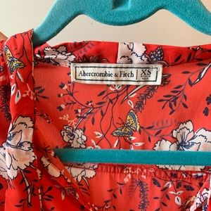 Abercrombie & Fitch Tops - Red floral blouse
